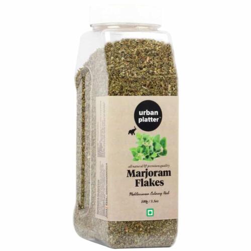 Urban Platter Marjoram Flakes Shaker Jar, 100g / 3.5oz [All Natural, Premium Quality, Mediterranean Culinary Herb]