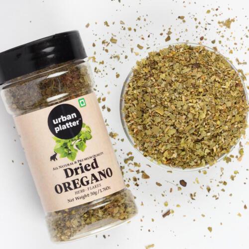 Urban Platter Dried Oregano Flakes Shaker Jar, 50g / 1.76oz [Pack of 3, All Natural, Premium Quality]