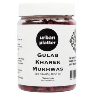 Urban Platter Gulab Kharek Mukhwas, 300g / 10.58oz [Mouth Freshener, Digestive, After-Meal Snack]