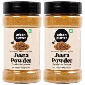 Urban Platter Cumin Seed Powder Shaker Jar, 100g / 3.5oz [Pack of 2, Premium Quality Jeera Powder]