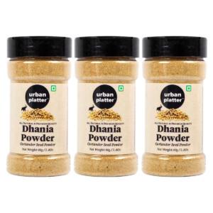 Urban Platter Coriander Seed Powder Shaker Jar, 80g / 2.8oz [Pack of 3, Premium Quality Dhania Powder]