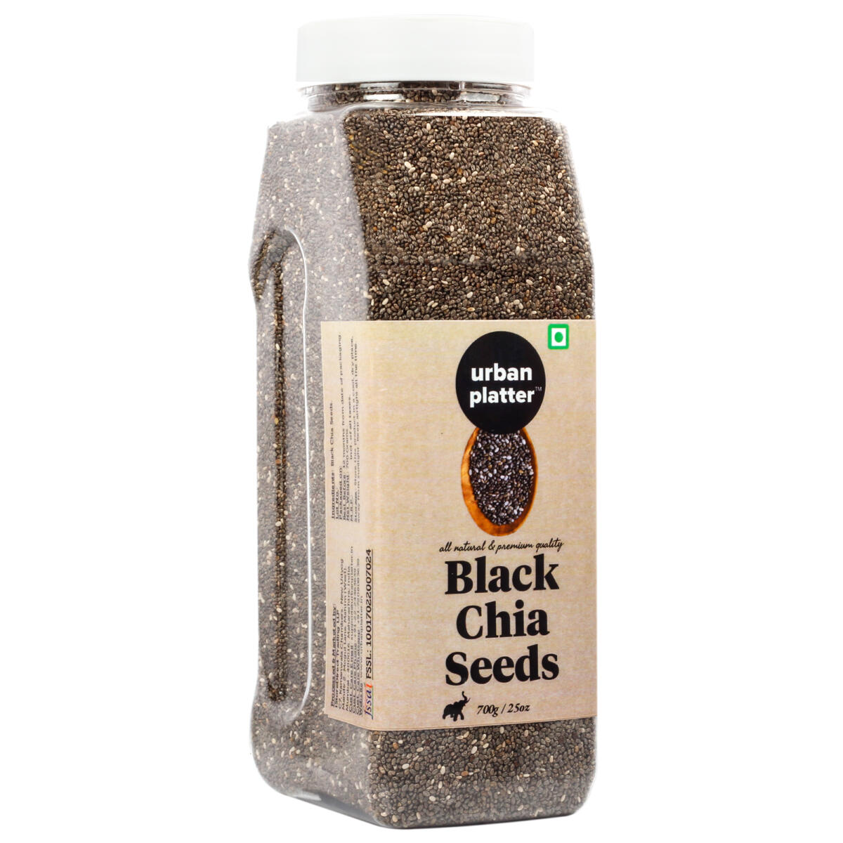 Urban Platter Black Chia Seeds, 700g