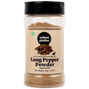 Urban Platter Long Pepper (Pippali) Powder Shaker Jar, 125g / 4.4oz [All Natural, Premium Quality, Aromatic]