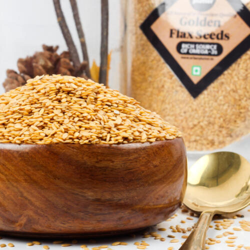 Urban Platter Golden Flax Seeds 1kg [All Natural & Rich in Nutrients]