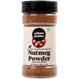 Urban Platter Nutmeg Powder Shaker Jar, 100g / 3.5oz [All Natural, Premium Quality, Jaiphal Powder]