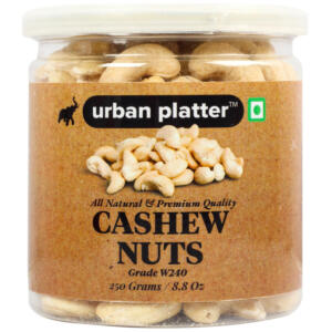 Urban Platter Bold Cashew Nuts (Grade: W240), 250g