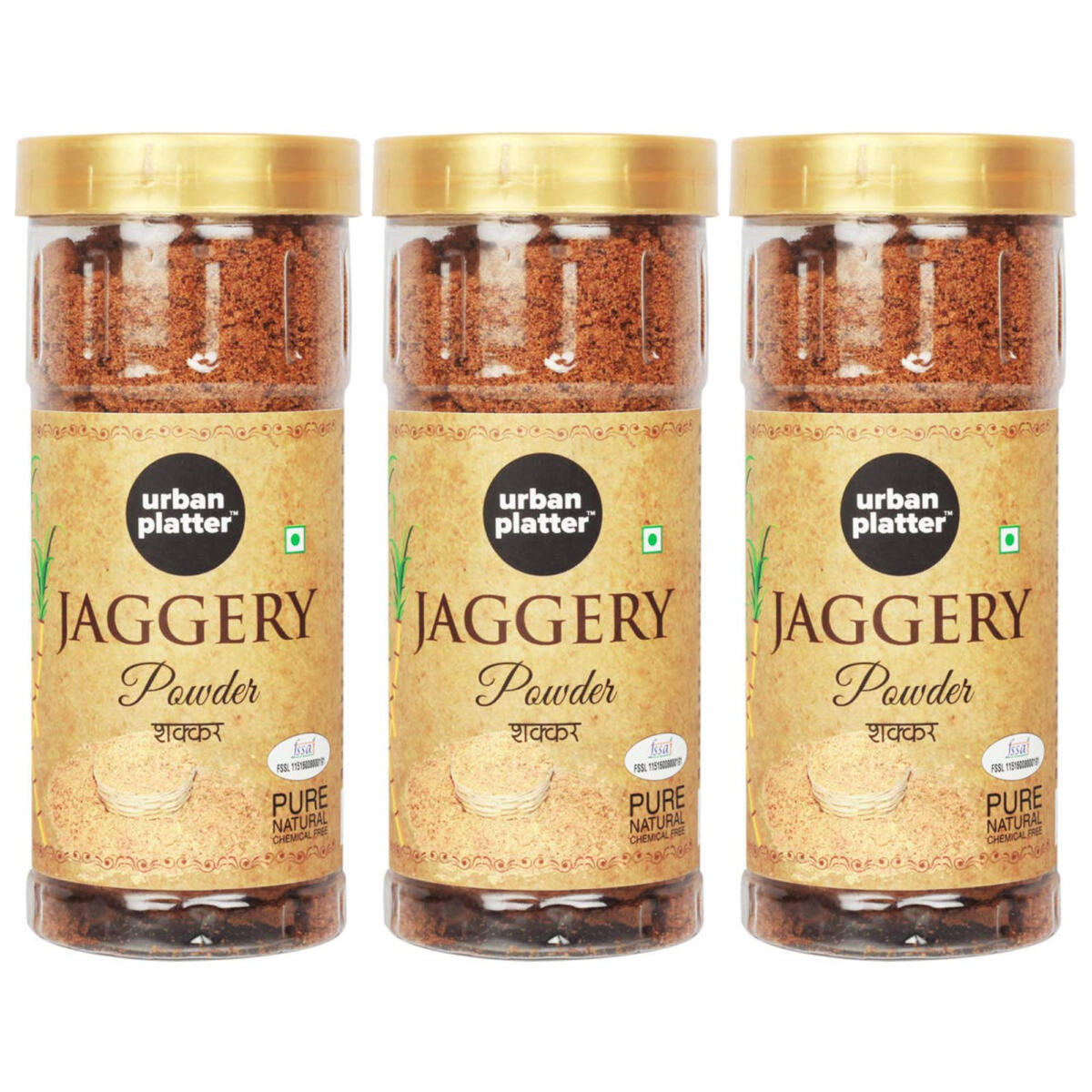 Urban Platter Jaggery Powder, 500g [Pure, Natural & Chemical Free] [Pack of  3]