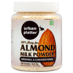 Urban Platter Almond Milk Powder, 150g / 5.3oz [Unsweetened, Dairy-free, Vegan]