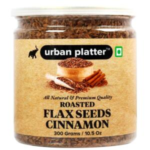 Urban Platter Cinnamon Flax Seeds (Roasted), 300g [Premium Quality, High Fibre, Antioxidant]