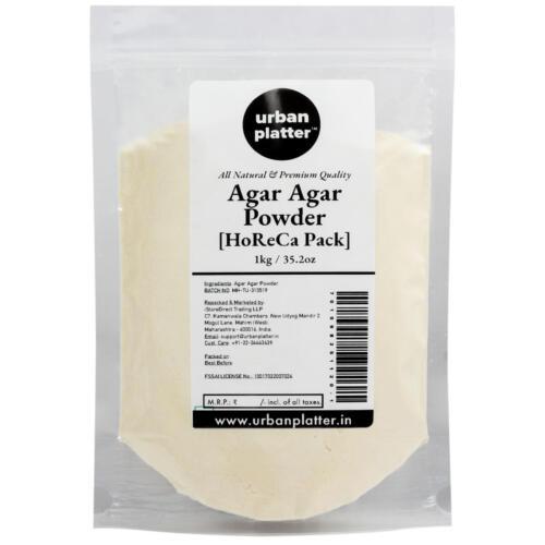 Urban Platter Agar Agar Powder, 1Kg [Vegetarian Gelatin Powder] [Bulk - HoReCa Pack]