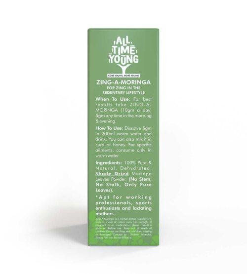 All Time Young, Zing-A-Moringa, Moringa Powder, 100g [Pack of 2]