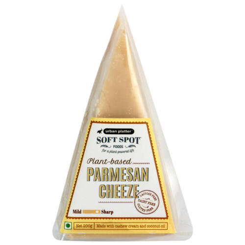 Urban Platter Vegan Parmesan Cheeze, 200g / 7oz [Plant-Based Cheese, Lactose-Free, Powered by Soft Spot Foods]
