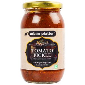 Urban Platter Tomato Pickle, 400g / 14oz [Tangy, Premium Quality, Traditional Recipe]