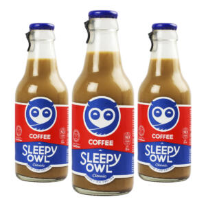 Sleepy Owl Classic Cold Brew Coffee, [Pack of 3 X 200ml each Bottle]