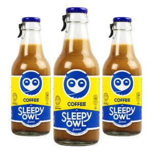 Sleepy Owl Sweet Cold Brew Coffee, [Pack of 3 X 200ml each Bottle]