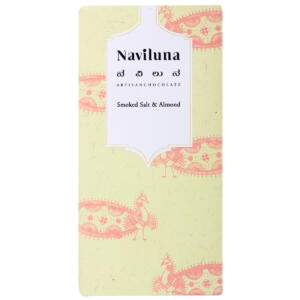 Naviluna Smoked Salt & Almond Artisan Dark Chocolate, 60g