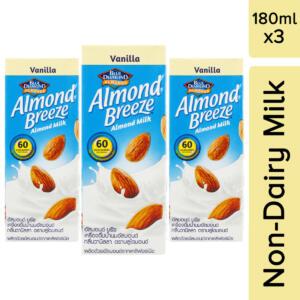 Blue Diamond Vanilla Almond Milk, 180ml [Pack of 3, Vegan]