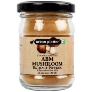 Urban Platter Agaricus Blazei Murill (ABM) Mushroom Extract Powder, 50g / 1.76oz [All Natural, Nutrient Dense SuperFood]