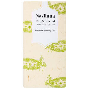 Naviluna Candied Gondhoraj Lime Artisan Chocolate Bar, 60g