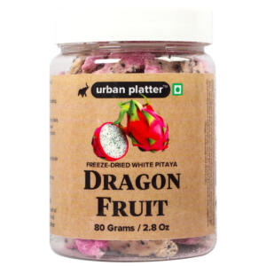 Urban Platter Freeze-Dried Dragon Fruit Slices, 80g / 2.8oz [White Pitaya, Fruity & Tasty]