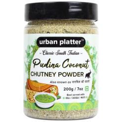 Urban Platter South Indian Style Instant Pudina (Mint) Coconut Chutney Powder, 200g / 7oz [Nariyal ki Chutney, Just Add Water]