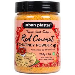 Urban Platter South Indian Style Instant Red Coconut Chutney Powder, 200g / 7oz [Nariyal ki Chutney, Just Add Water]