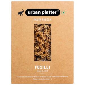 Urban Platter Vegan Pasta Fresca Whole Wheat Fusilli, 500g / 17.6oz [Hand Crafted]