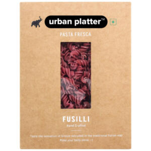 Urban Platter Vegan Pasta Fresca Beetroot Fusilli, 500g / 17.6oz [Hand Crafted]