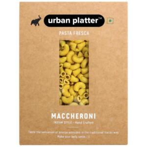 Urban Platter Vegan Pasta Fresca Semolina Turmeric Maccheroni, 500g / 17.6oz [Hand Crafted]
