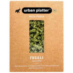 Urban Platter Vegan Pasta Fresca Spinach Fusilli, 500g / 17.6oz [Hand Crafted]