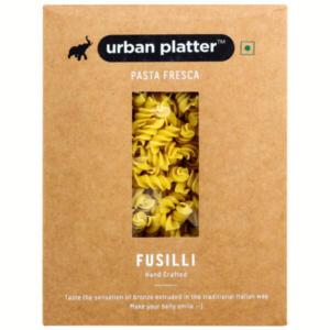 Urban Platter Vegan Pasta Fresca Turmeric Fusilli, 500g / 17.6oz [Hand Crafted]