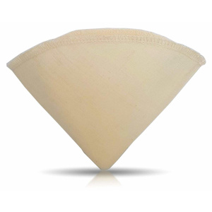"""Urban Platter V60 Fine Mesh Cotton Coffee Filter Bag, Size - 7.5"""" W x 5.5"""" H [Pack of 3, Coffee Sock, Reusable, Hario Compatible]"""