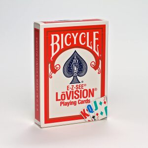 Bicycle Lo-Vision Playing Cards Red Deck