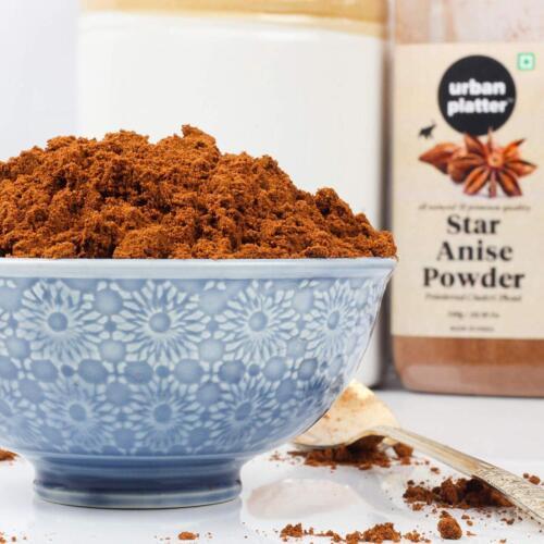Urban Platter Star Anise Powder Shaker Jar, 300g / 10.58oz [Powdered Chakri Phool, All Natural, Premium Quality]