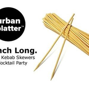 Urban Platter 8 Inch Long Bamboo Cocktail Sticks Skewers, 100 Sticks