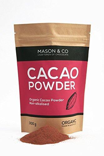 Mason & Co. Non-Alkalised Organic Vegan Artisanal Indian Cacao Powder, 300g
